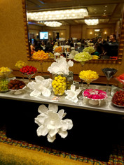 Fruit Table (With Paper Flower Decorations)