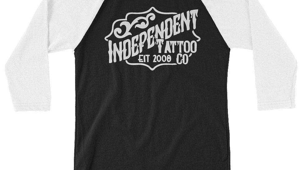 Independent Tattoo Company Logo 3/4 sleeve raglan shirt Spring 2021