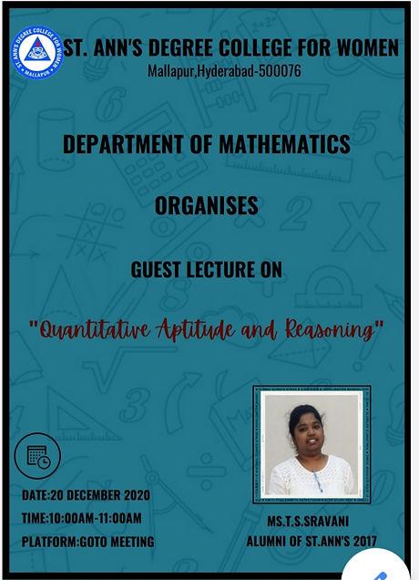 20-12-2020 Guest Lecture by Shravani B.S