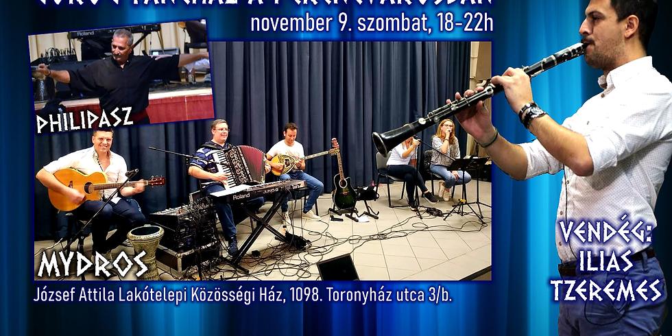 Ferencvárosi görög táncház (vendég: Ilias Tzeremes)