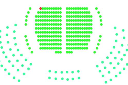 Földszint bal oldal, A sor 13. szék