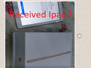 An iPad has been giving out to regular customer.