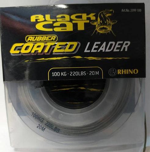 Black Cat Coated Leader  - 100Kg - 20mts