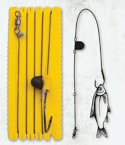 Black Cat Single Hook with Rattle - Linea 100 Kg - Anzuelo 8/0- 1.2mts