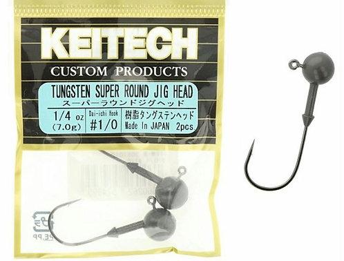 Keitech Anzuelos Tungsten super round jig head