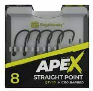 RidgeMonkey - Anzuelos Ape-X Straight Point Barbed