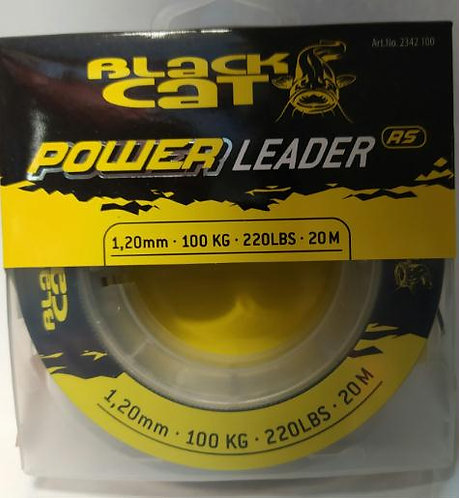 Black Cat Power Leader 1.2mm - 100Kg - 20mts