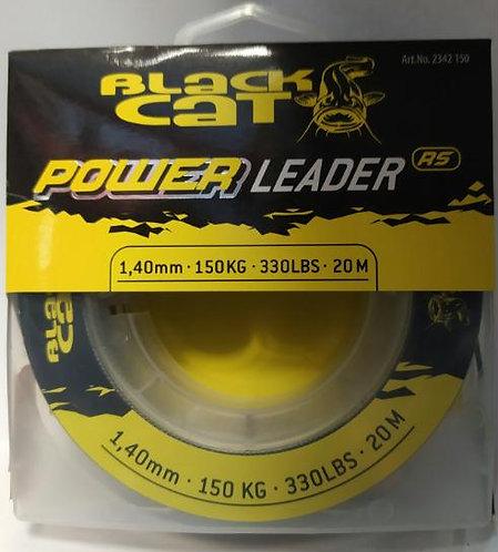 Black Cat Power Leader 1.4mm - 150Kg - 20mts