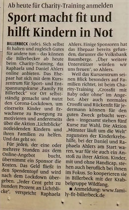 Charity Trainig mit Family Fit Billerbeck
