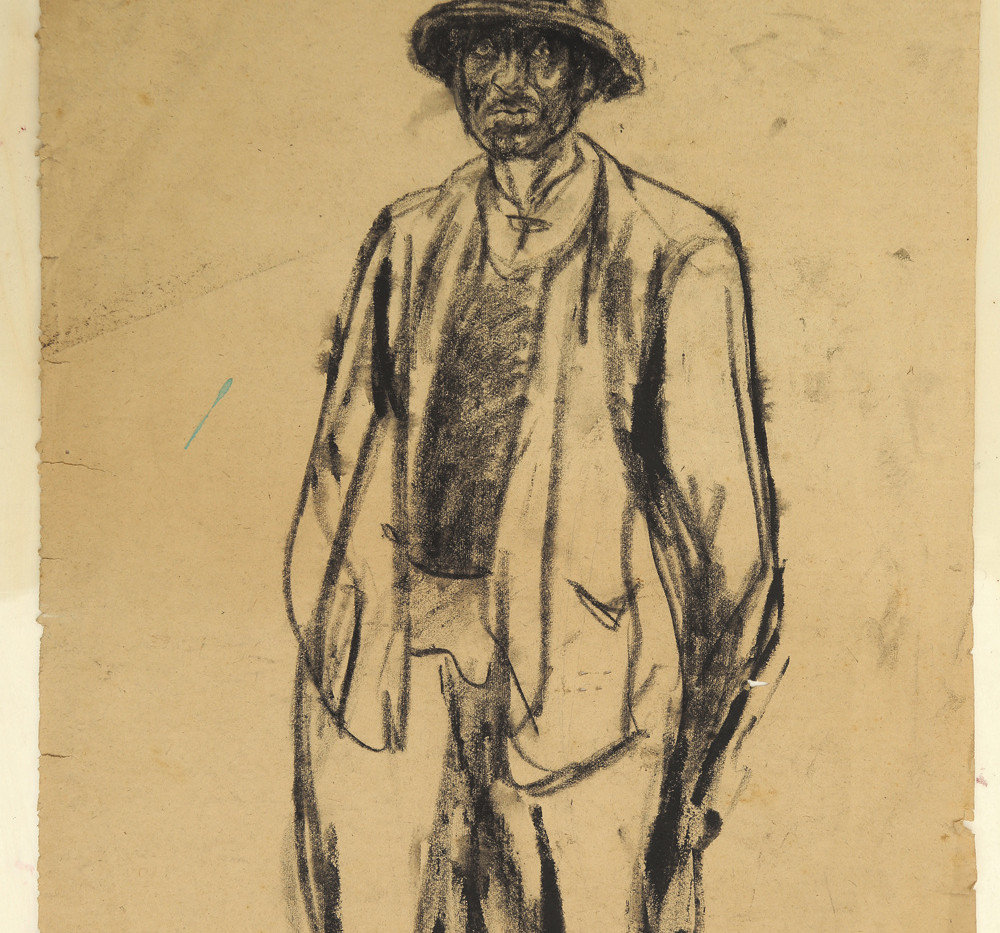 Sketch of a farmer in Shaoxing