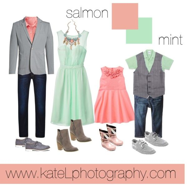 Coral Dresses For Family Portraits