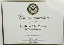 Fireboat commodation