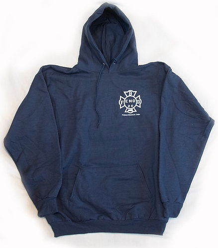 Sweatshirt with Hood - Navy or Red