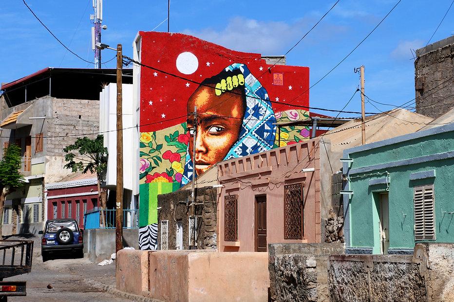 Ananda Nahu Mural em Cabo Verde Africa