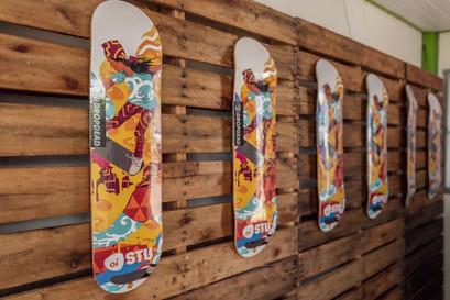 Exposicao dos Skates Customizados