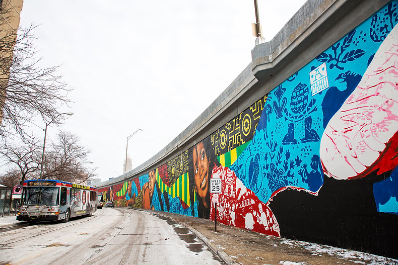 ananda nahu streetart the longest mural of ohio breaking record
