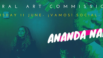 ANANDA NAHU - UK PREMIERE MURAL ART COMMISSION FOR THE 2015 ¡VAMOS! FESTIVAL.