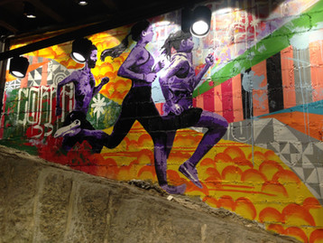 Mural painting exclusively for the new NIKE store, Leblon, Rio de Janeiro .