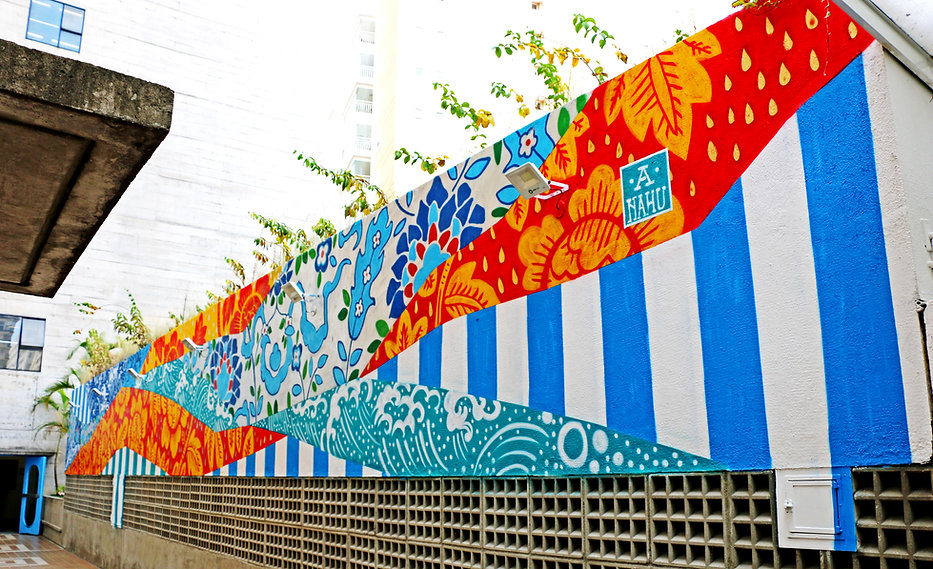 Ananda Nahu, sesc vila mariana, streetart, painting