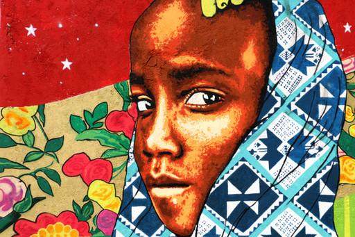 Detalhe do mural