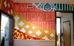 Ananda Nahu painting at new Safe House o