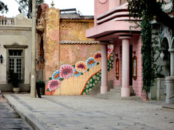 Pintura na cidade cenografica
