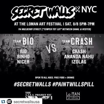 Final day of the project at Secret Walls! graffiti Battle Brazilian x Bronx !