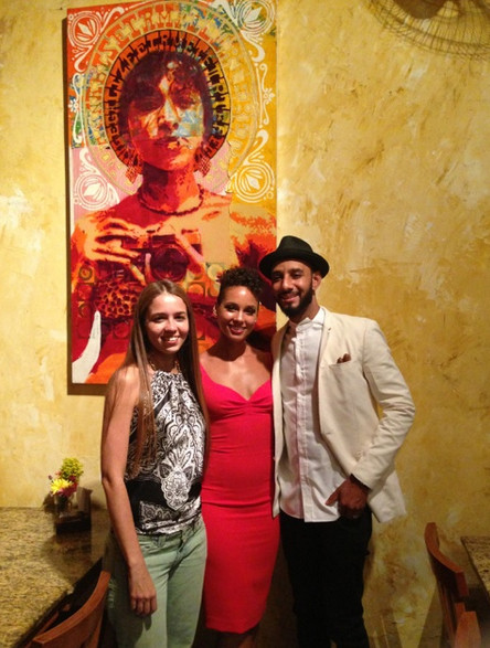 ananda nahu with alicia keys and swizz beatz