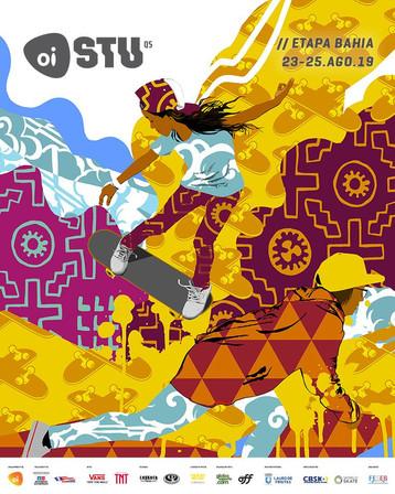 Ananda Nahu assina a Arte da II Etapa Oi Stu Open na Bahia