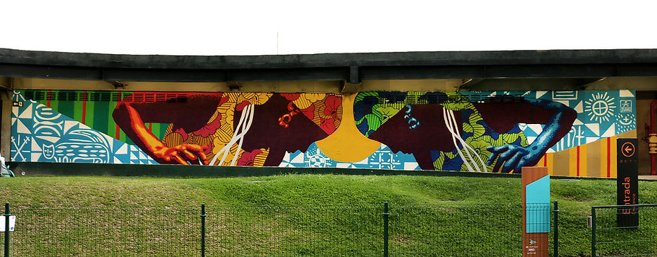Ananda Nahu mural na Marina da Gloria, Rio de Janeiro