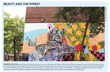 FACES FROM THE BLOCK featured at NYCHA (New York City Housing Authority ) Journal!