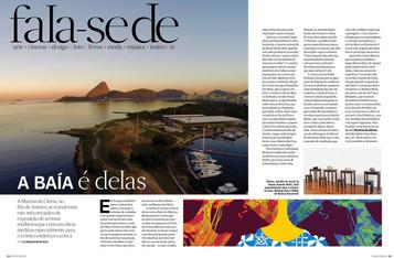 Materia da VOGUE Brasil sobre a exposição Arte Delas, na Marina da Gloria
