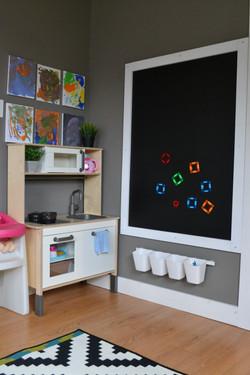 Vertical chalkboard