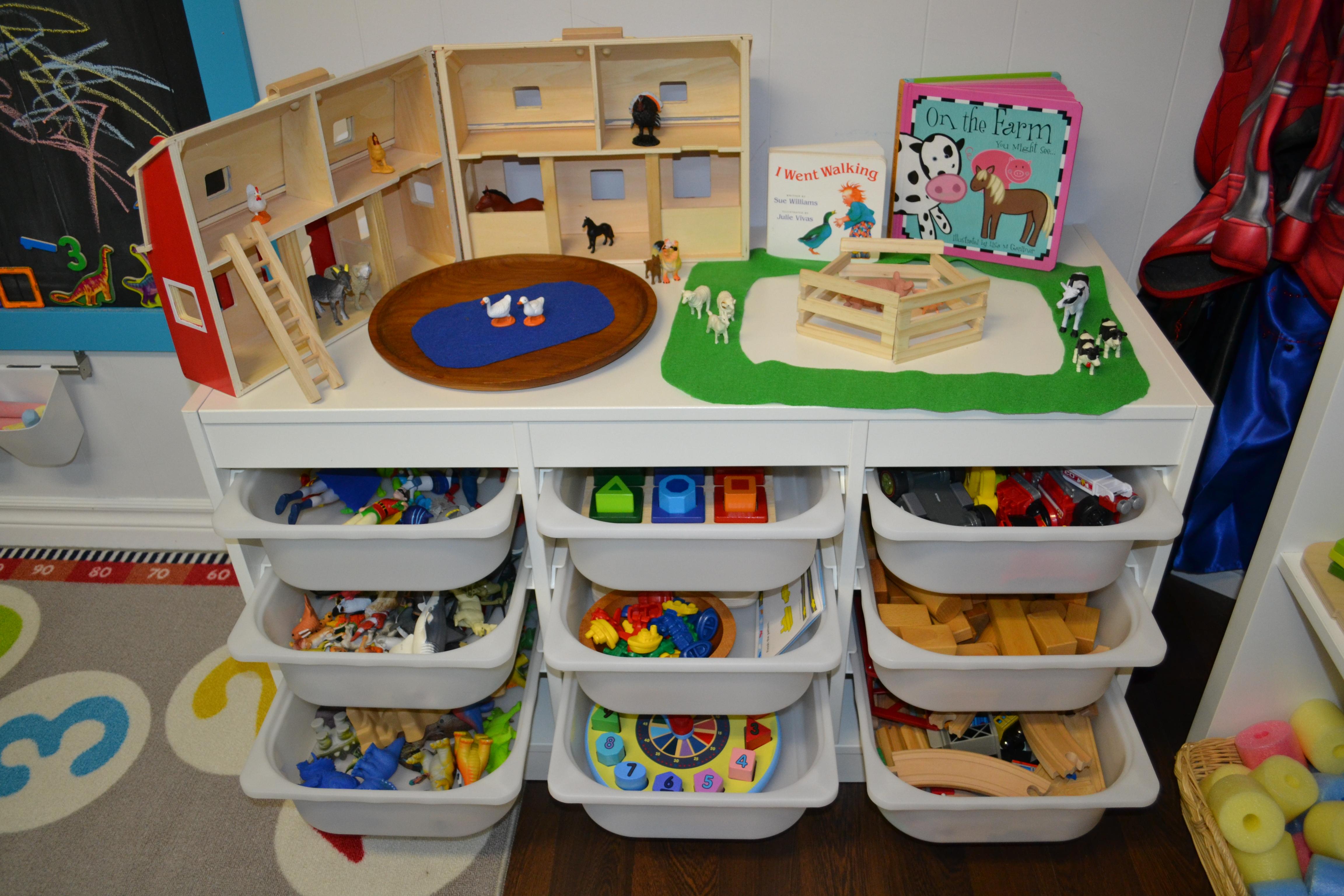 organizing kids materials
