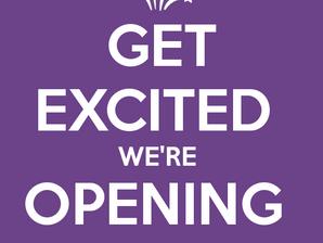 We're opening our doors!