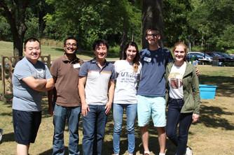 left to right: Ye, HJ, Dawen, Ciara, Nigel, Erica