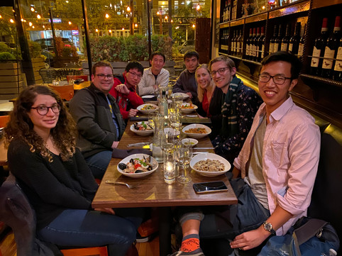 Lab dinner at Osteria Rusticana, Chicago