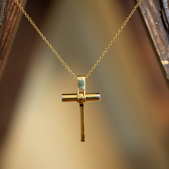 'BARAKA' cross pendant and chain