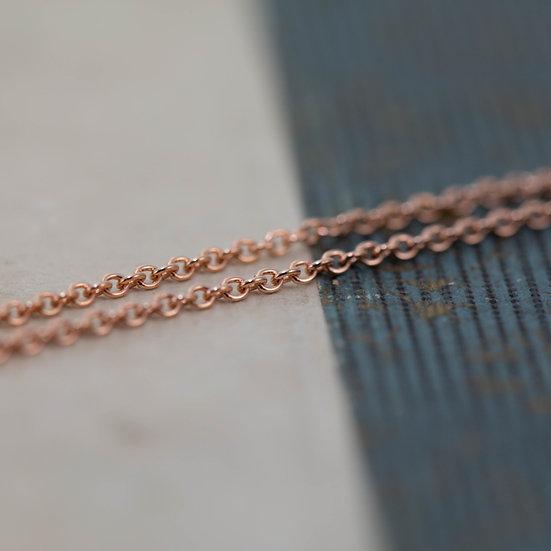 Rose Gold Fine Trace Chain
