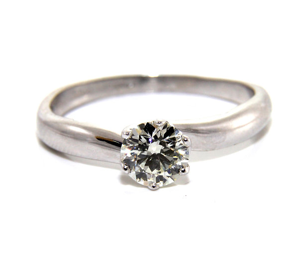 Diamond Solitaire Offset Engagement Ring