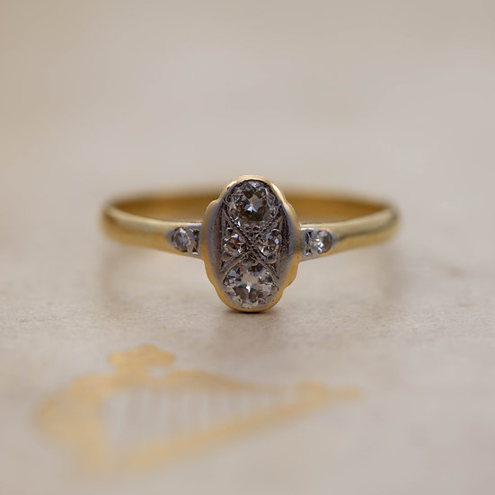 Diamond Two Stone Ring