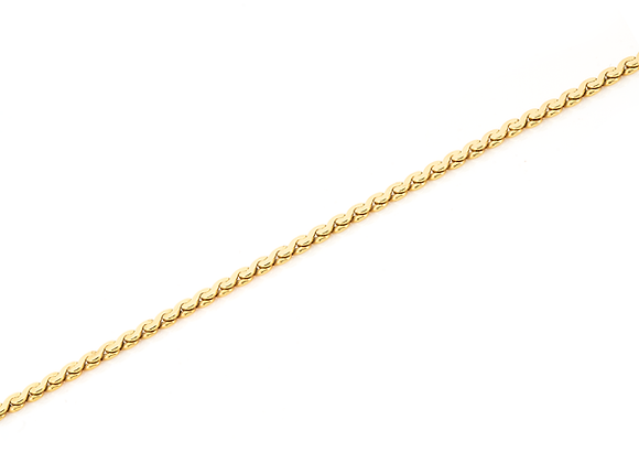 Flat S Link Necklace