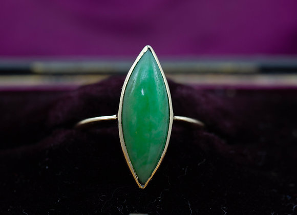 Marquise Jade Solitaire Ring