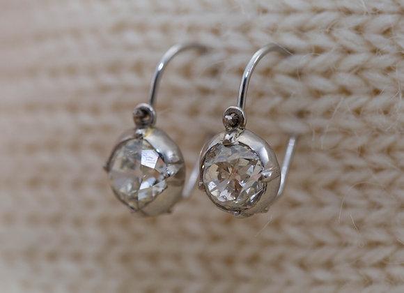 Old Cut Diamond Drop Earrings