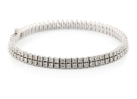 Diamond Double Row Bracelet