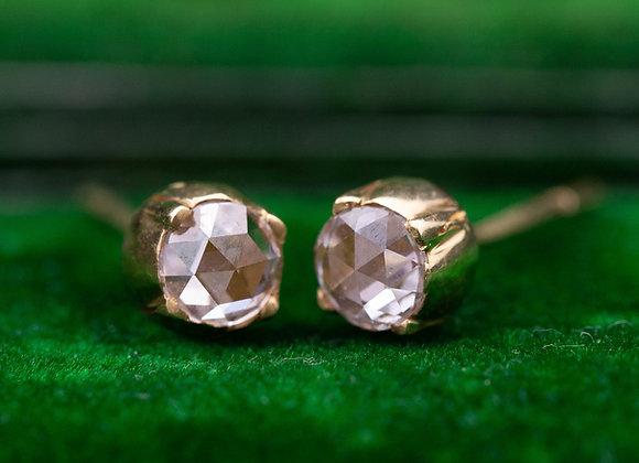 Rose Cut Diamond Studs