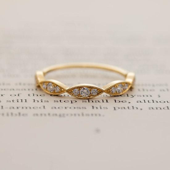 Ellipse Diamond Half Eternity Ring