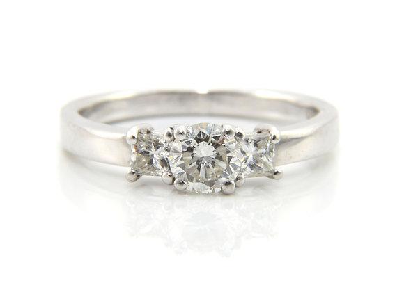 Diamond Three Stone Engagement Ring