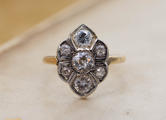 Hexagonal Diamond Cluster Ring
