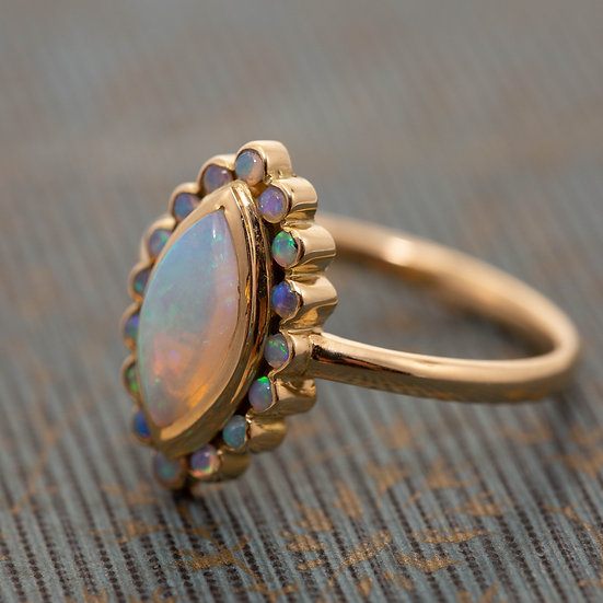 Marquise Cluster Opal Ring